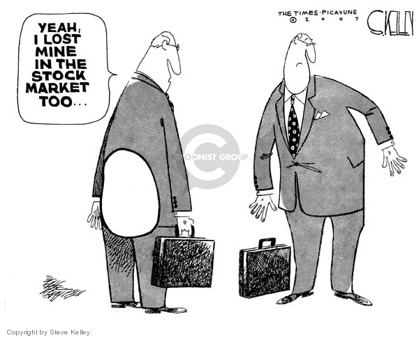 Steve Kelley  Steve Kelley's Editorial Cartoons 2007-08-17 stock market