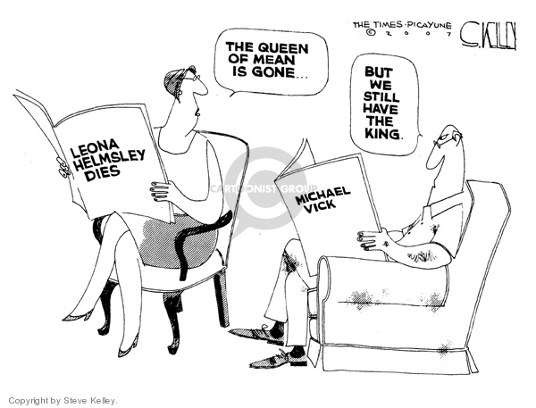 Leona Helmsley Dies.  The Queen of Mean is gone … Michael Vick.  But we still have the king.