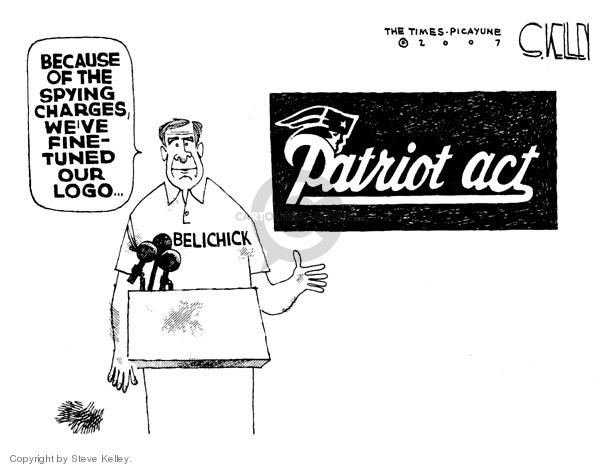 Cartoonist Steve Kelley  Steve Kelley's Editorial Cartoons 2007-09-14 logo