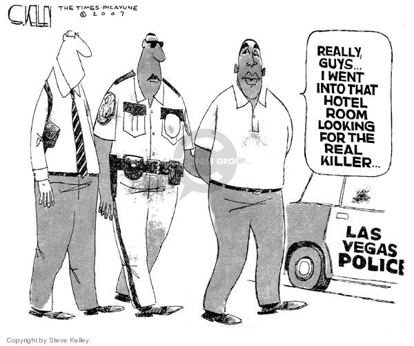 Steve Kelley  Steve Kelley's Editorial Cartoons 2007-09-18 policeman