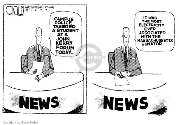 Steve Kelley  Steve Kelley's Editorial Cartoons 2007-09-19 civil liberty