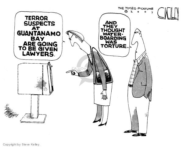 Steve Kelley  Steve Kelley's Editorial Cartoons 2007-10-01 human rights