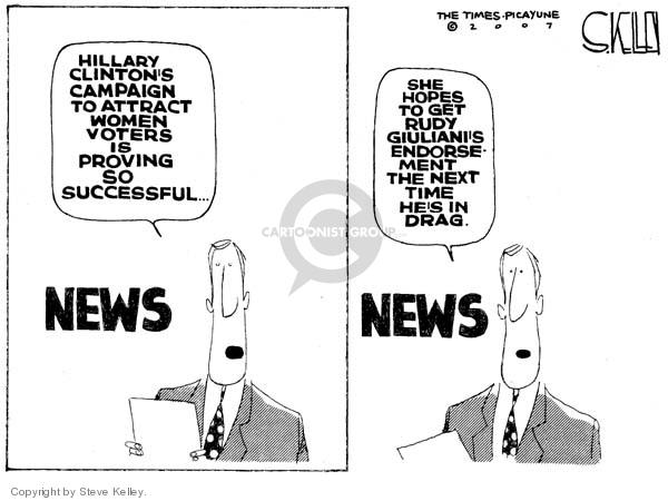 Steve Kelley  Steve Kelley's Editorial Cartoons 2007-10-16 Rudy Giuliani