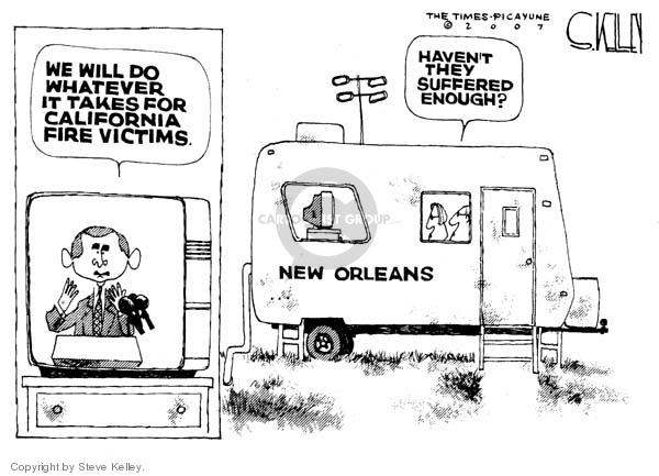 Steve Kelley  Steve Kelley's Editorial Cartoons 2007-10-24 disaster aftermath