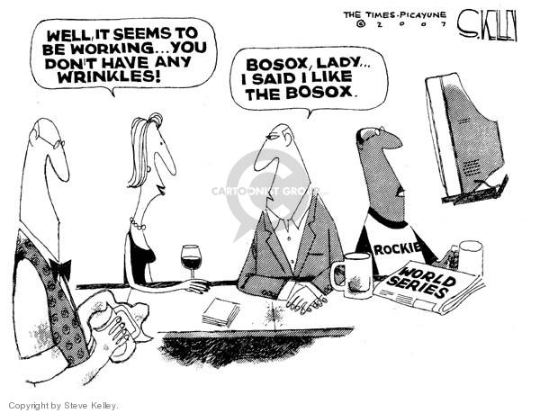 Cartoonist Steve Kelley  Steve Kelley's Editorial Cartoons 2007-10-30 red