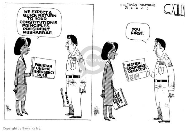 Steve Kelley  Steve Kelley's Editorial Cartoons 2007-11-06 human rights