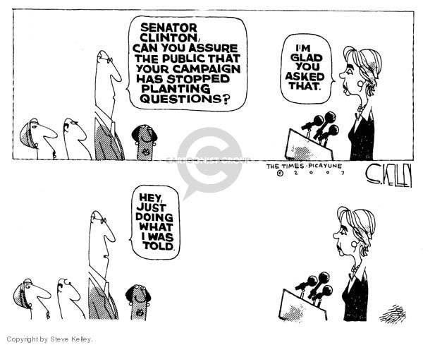 Cartoonist Steve Kelley  Steve Kelley's Editorial Cartoons 2007-11-13 hey