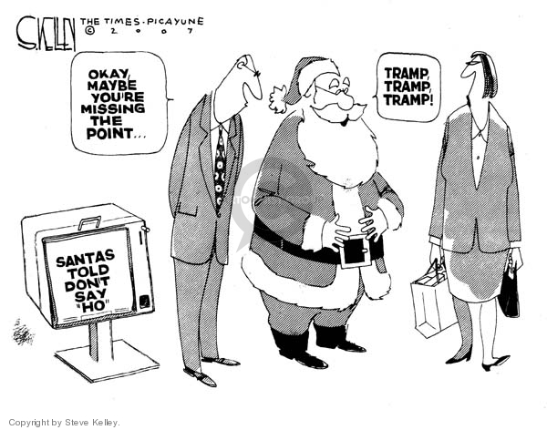 Cartoonist Steve Kelley  Steve Kelley's Editorial Cartoons 2007-11-16 claus