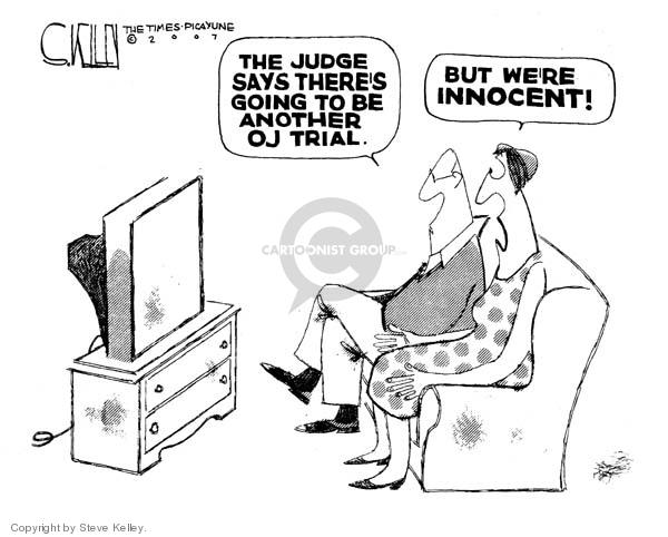 Steve Kelley  Steve Kelley's Editorial Cartoons 2007-11-19 judge