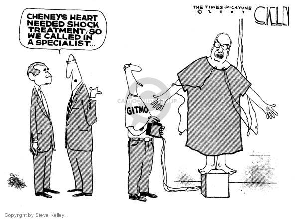 Steve Kelley  Steve Kelley's Editorial Cartoons 2007-11-28 human rights
