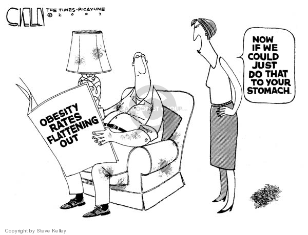 Cartoonist Steve Kelley  Steve Kelley's Editorial Cartoons 2007-11-29 weight