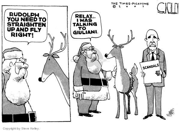 Cartoonist Steve Kelley  Steve Kelley's Editorial Cartoons 2007-11-30 claus