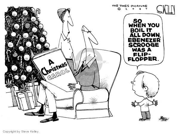 Cartoonist Steve Kelley  Steve Kelley's Editorial Cartoons 2007-12-19 flip