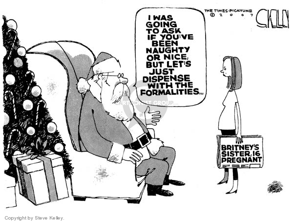 Cartoonist Steve Kelley  Steve Kelley's Editorial Cartoons 2007-12-20 claus