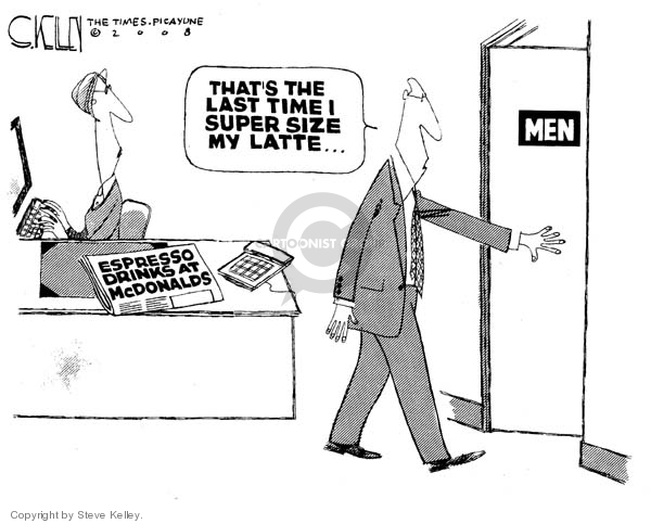Cartoonist Steve Kelley  Steve Kelley's Editorial Cartoons 2008-01-09 food