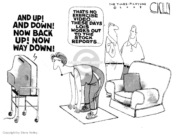 Steve Kelley  Steve Kelley's Editorial Cartoons 2008-02-19 stock market