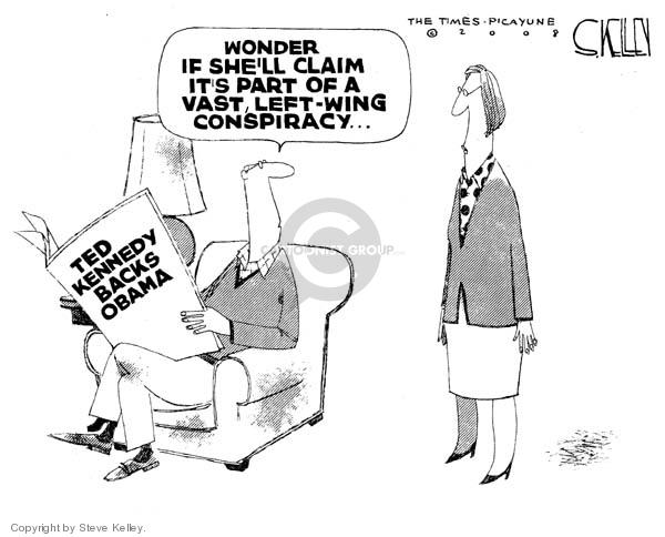 Cartoonist Steve Kelley  Steve Kelley's Editorial Cartoons 2008-01-30 left-wing