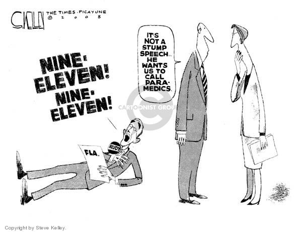 Steve Kelley  Steve Kelley's Editorial Cartoons 2008-01-31 Rudy Giuliani
