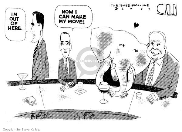 Cartoonist Steve Kelley  Steve Kelley's Editorial Cartoons 2008-02-11 right-wing