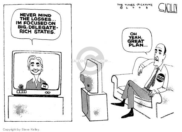 Steve Kelley  Steve Kelley's Editorial Cartoons 2008-02-18 Rudy Giuliani
