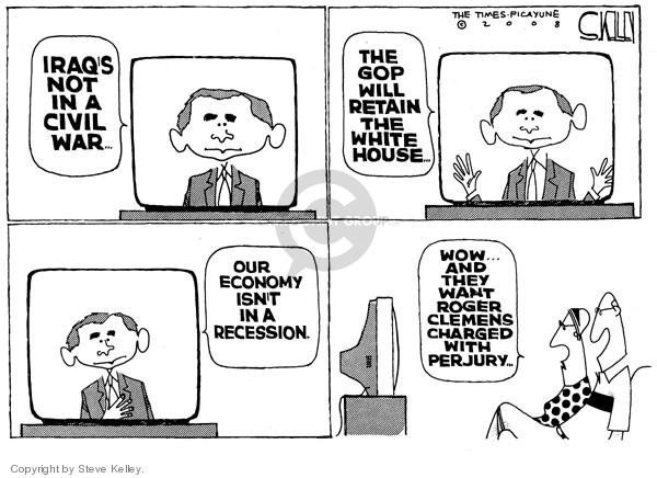 Steve Kelley  Steve Kelley's Editorial Cartoons 2008-02-29 GOP