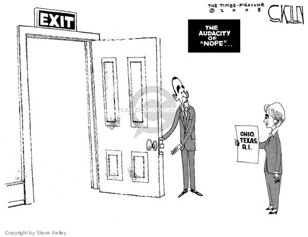 Steve Kelley  Steve Kelley's Editorial Cartoons 2008-03-11 Texas