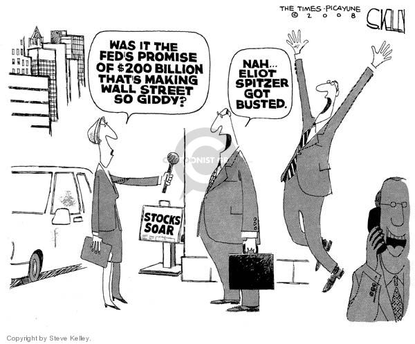 Steve Kelley  Steve Kelley's Editorial Cartoons 2008-03-12 $200