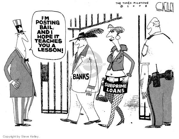 Steve Kelley  Steve Kelley's Editorial Cartoons 2008-03-19 economy
