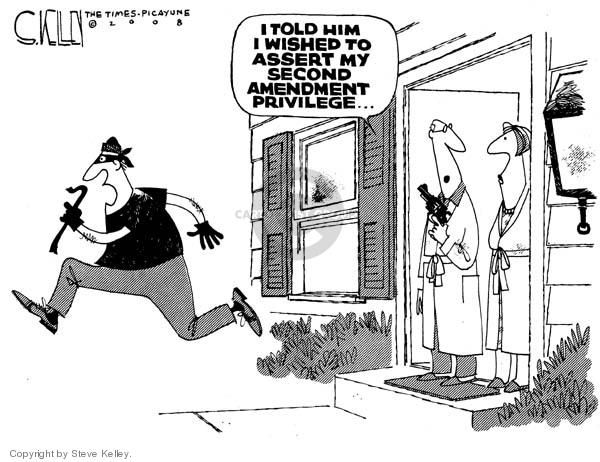 Steve Kelley  Steve Kelley's Editorial Cartoons 2008-03-22 civil liberty
