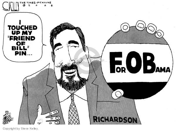 Steve Kelley  Steve Kelley's Editorial Cartoons 2008-03-24 2008 election endorsement