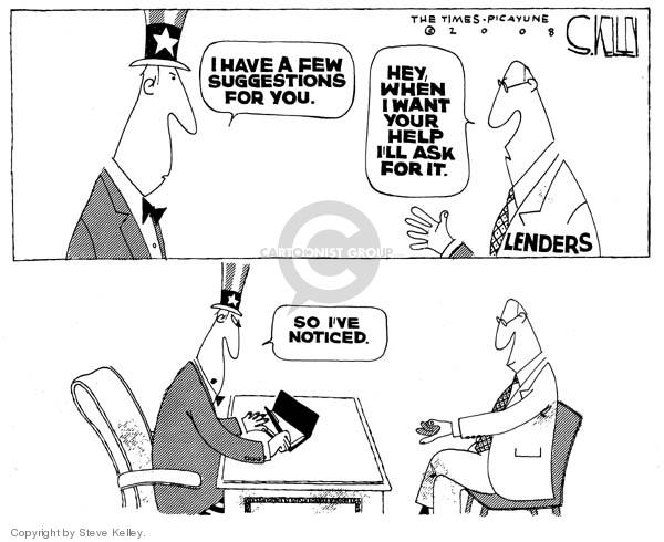 Steve Kelley  Steve Kelley's Editorial Cartoons 2008-04-01 economy
