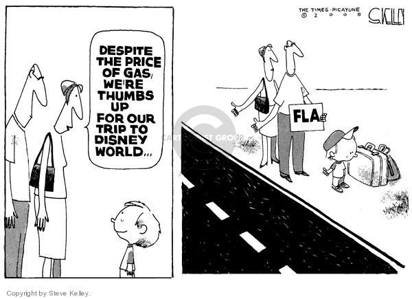 Cartoonist Steve Kelley  Steve Kelley's Editorial Cartoons 2008-04-23 gas