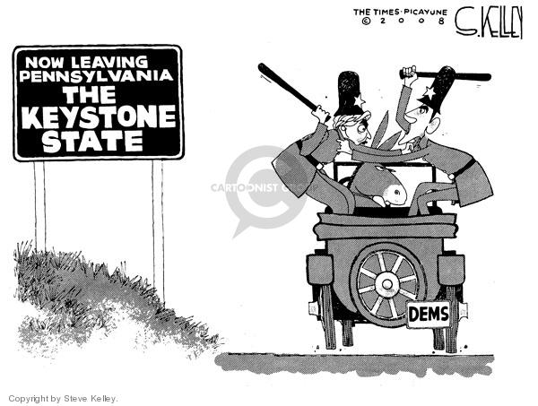 Steve Kelley  Steve Kelley's Editorial Cartoons 2008-04-24 policeman