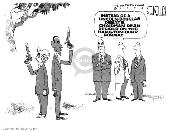 Cartoonist Steve Kelley  Steve Kelley's Editorial Cartoons 2008-04-30 Douglas