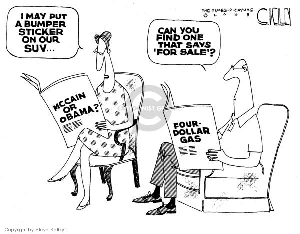 Cartoonist Steve Kelley  Steve Kelley's Editorial Cartoons 2008-05-30 automobile energy