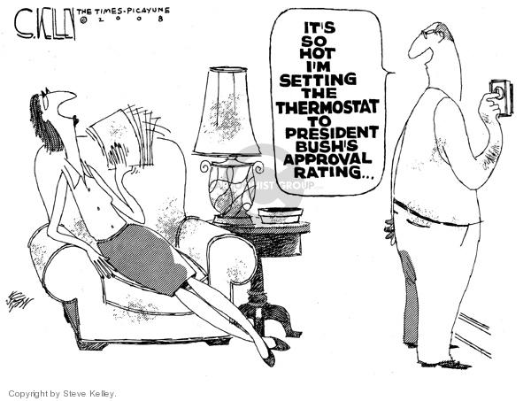 Cartoonist Steve Kelley  Steve Kelley's Editorial Cartoons 2008-06-25 heat
