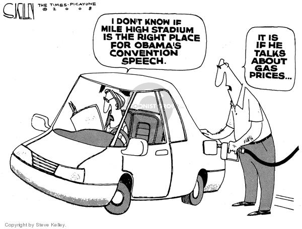 Cartoonist Steve Kelley  Steve Kelley's Editorial Cartoons 2008-07-11 automobile energy