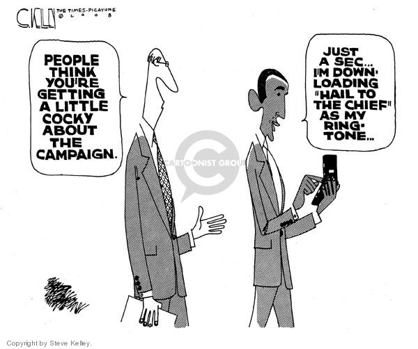 Cartoonist Steve Kelley  Steve Kelley's Editorial Cartoons 2008-07-25 cellular
