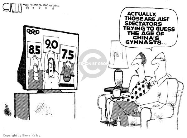 Steve Kelley  Steve Kelley's Editorial Cartoons 2008-08-12 2008 Olympics