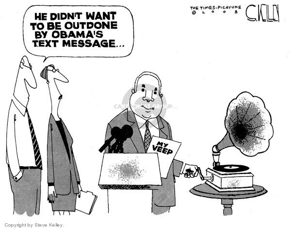 Cartoonist Steve Kelley  Steve Kelley's Editorial Cartoons 2008-08-21 veep