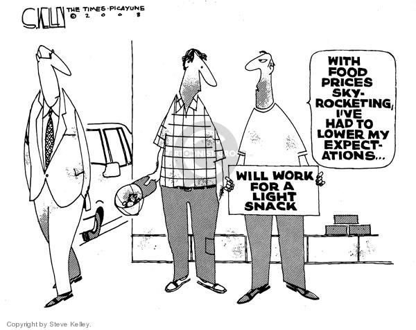 Cartoonist Steve Kelley  Steve Kelley's Editorial Cartoons 2008-08-22 food