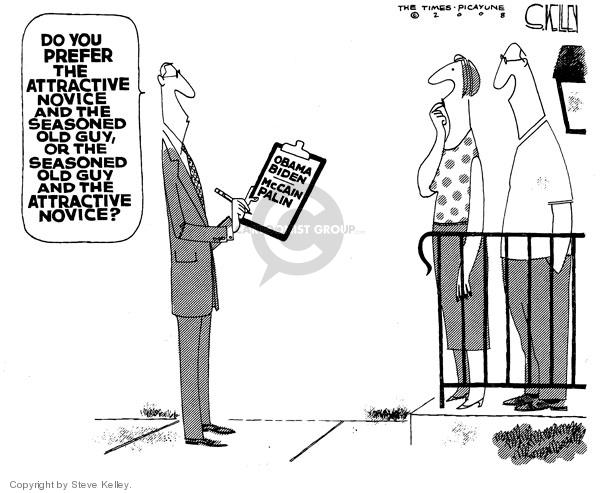 Cartoonist Steve Kelley  Steve Kelley's Editorial Cartoons 2008-09-08 Obama Biden