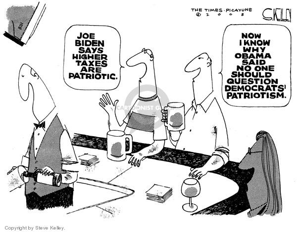 Steve Kelley  Steve Kelley's Editorial Cartoons 2008-09-19 Joe Biden