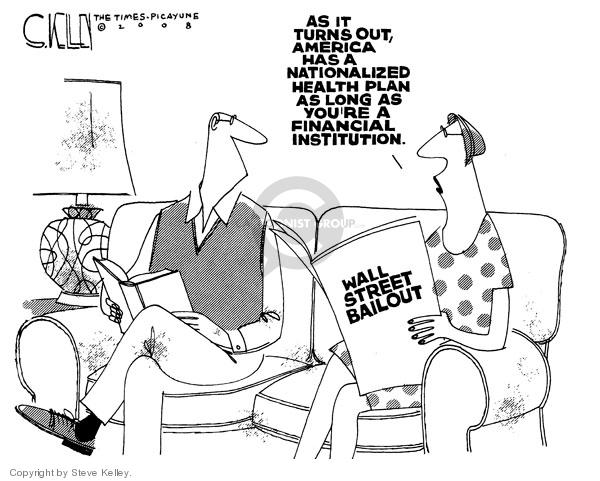 Steve Kelley  Steve Kelley's Editorial Cartoons 2008-09-24 stock market