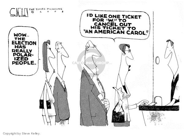 Cartoonist Steve Kelley  Steve Kelley's Editorial Cartoons 2008-10-09 2008 election