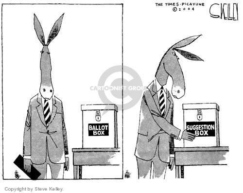 Cartoonist Steve Kelley  Steve Kelley's Editorial Cartoons 2004-11-04 2004 election