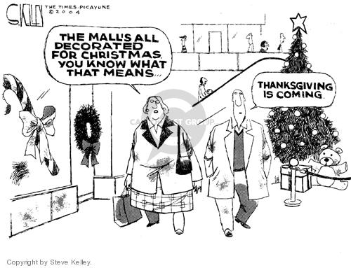 Steve Kelley  Steve Kelley's Editorial Cartoons 2004-11-16 Christmas shopping