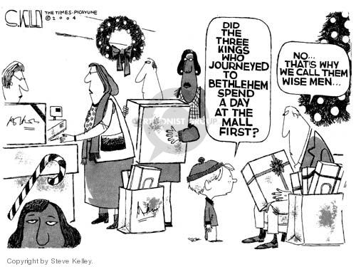 Steve Kelley  Steve Kelley's Editorial Cartoons 2004-11-29 Christmas shopping
