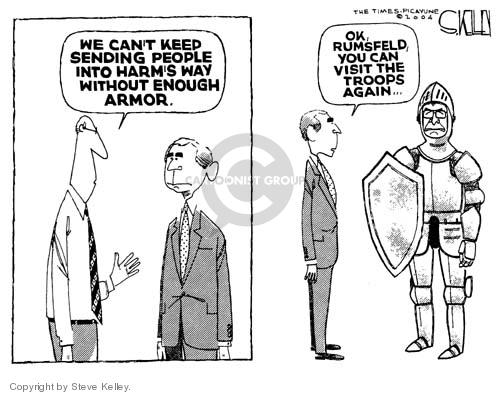 Steve Kelley  Steve Kelley's Editorial Cartoons 2004-12-10 armor-plated