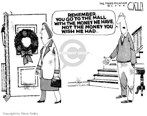Steve Kelley  Steve Kelley's Editorial Cartoons 2004-12-24 Christmas shopping